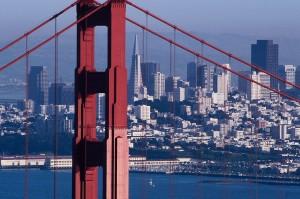 San Francisco Behind the Golden Gate Bridge