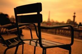 Empty Chairs in Paris Park